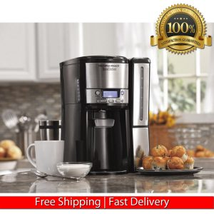 HAMILTON BEACH 12-CUP COFFEE MAKER, PROGRAMABLE BREWSTATION COFFEE MACHINE BLACK